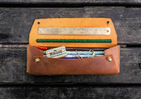 Galen Leather The Student Pencil Case - Crazy Horse Brown