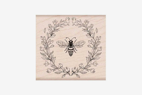 Hero Arts Stamp - Antique Bee and Flowers