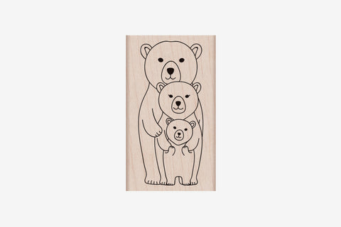Hero Arts Stamp - Bear Family