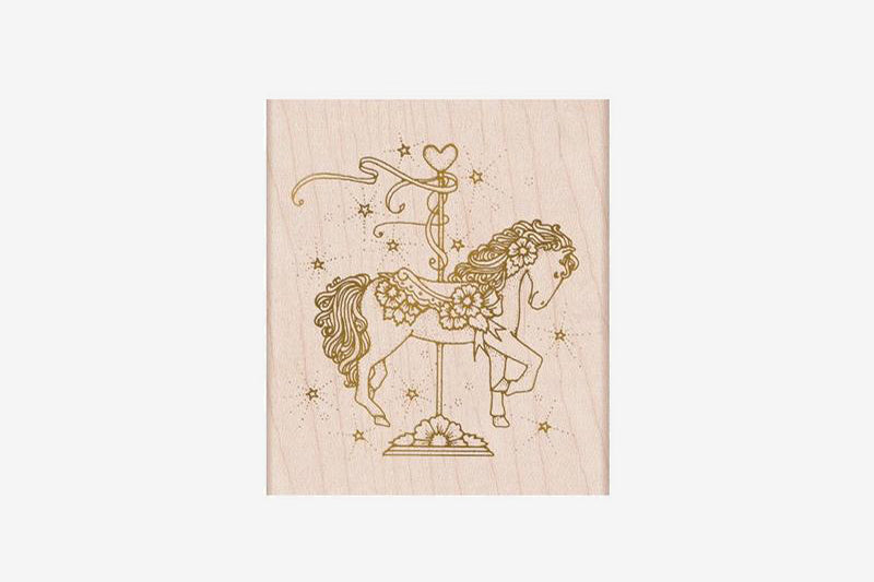 Hero Arts Stamp - From the Vault Floral Carousel Filly