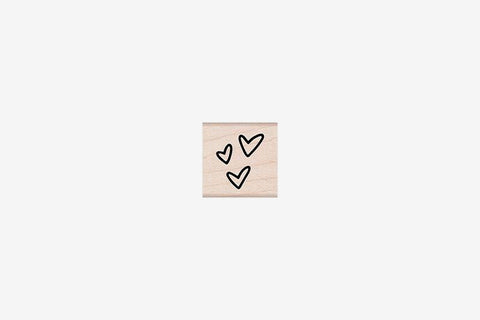 Hero Arts Stamp - Three Tiny Hearts