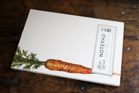 Hester & Cook Notepad - Carrot