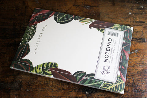 Hester & Cook Notepad - Tropical