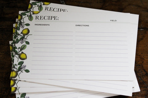 Hester & Cook Recipe Cards - Lemon