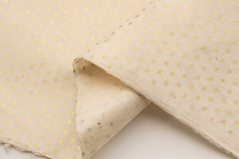 Lokta Gift Wrap - Asterisks Gold/Natural