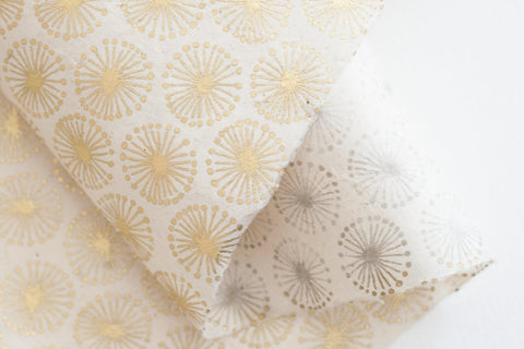 Lokta Gift Wrap - Dandelion Gold/Natural