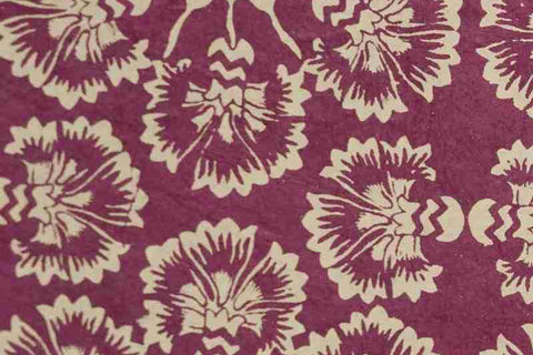 Lokta Gift Wrap - Dream Flower Sable/Dark Pink