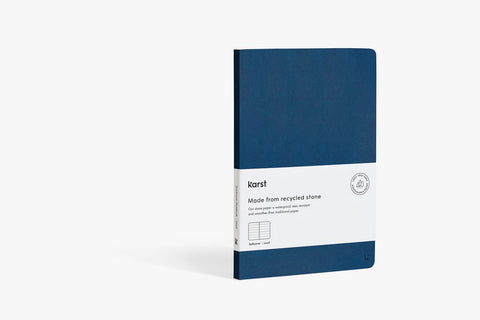 Karst Stone Paper Softcover Notebook - Navy