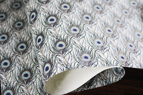 Rossi Gift Wrap - Peacock Feathers