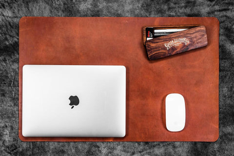 Galen Leather Desk Pad - Crazy Horse Tan