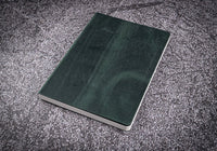 Galen Leather A5 Leather Notebook - Crazy Horse Forest Green