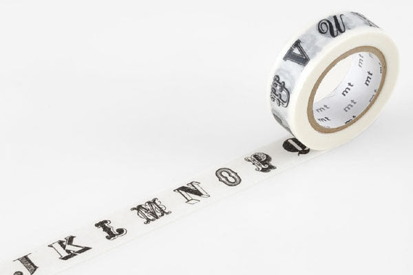 MT Masking Tape - Alphabet Black