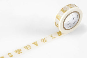 MT Masking Tape - Alphabet Gold