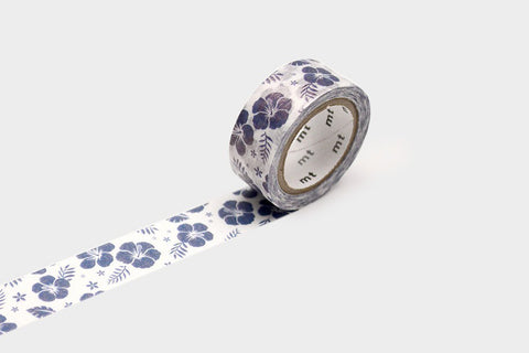 MT Masking Tape - Hibiscus Navy Blue