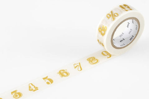 MT Masking Tape - Number/Symbol Gold
