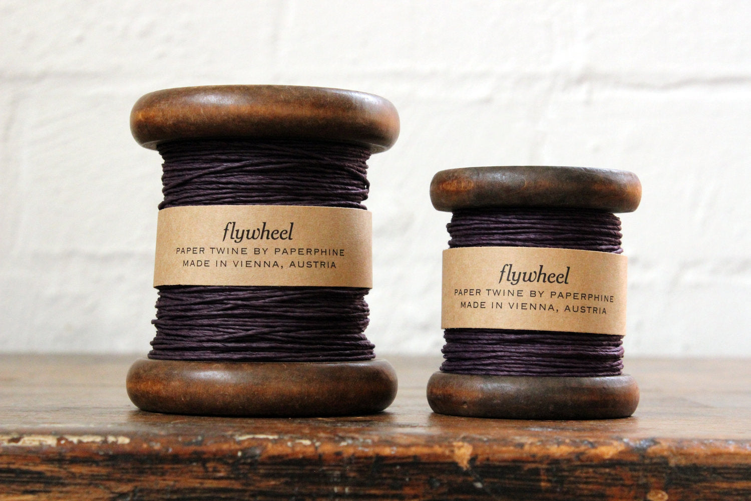 Paperphine Paper Twine on Wooden Spool - Aubergine