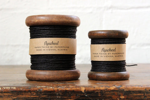 Paperphine Paper Twine on Wooden Spool - Black
