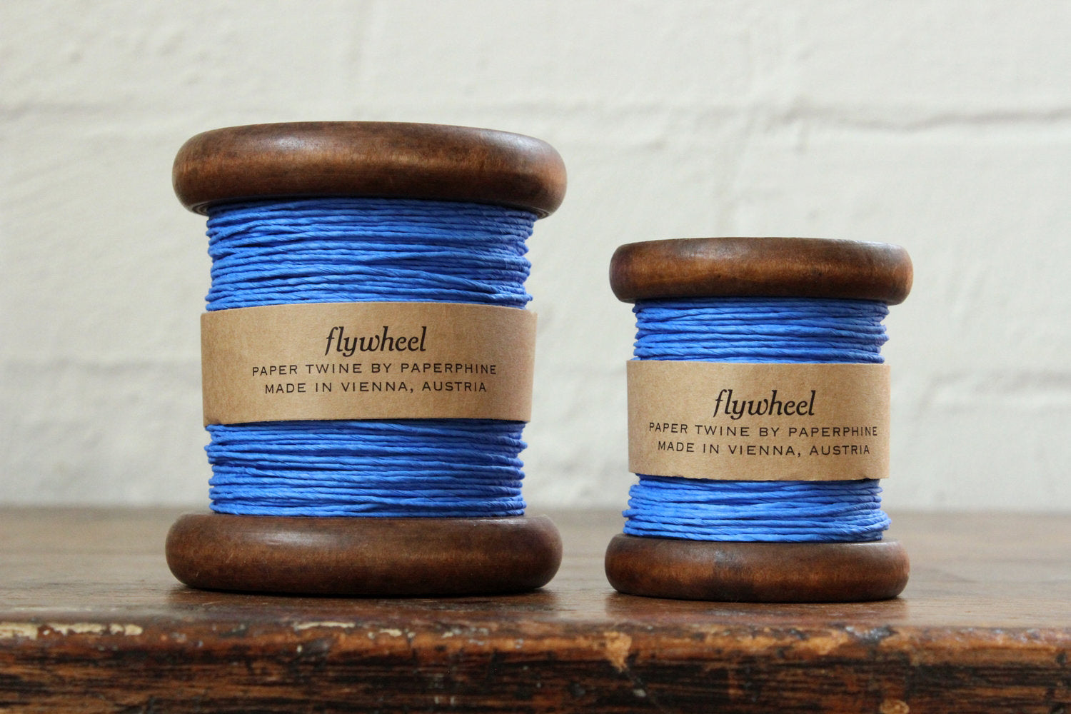 Paperphine Paper Twine on Wooden Spool - Blue