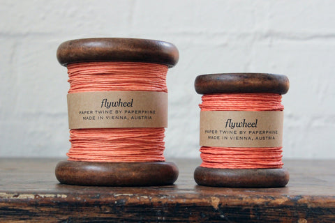 Paperphine Paper Twine on Wooden Spool - Coral