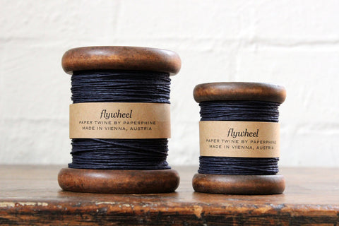 Paperphine Paper Twine on Wooden Spool - Dark Blue