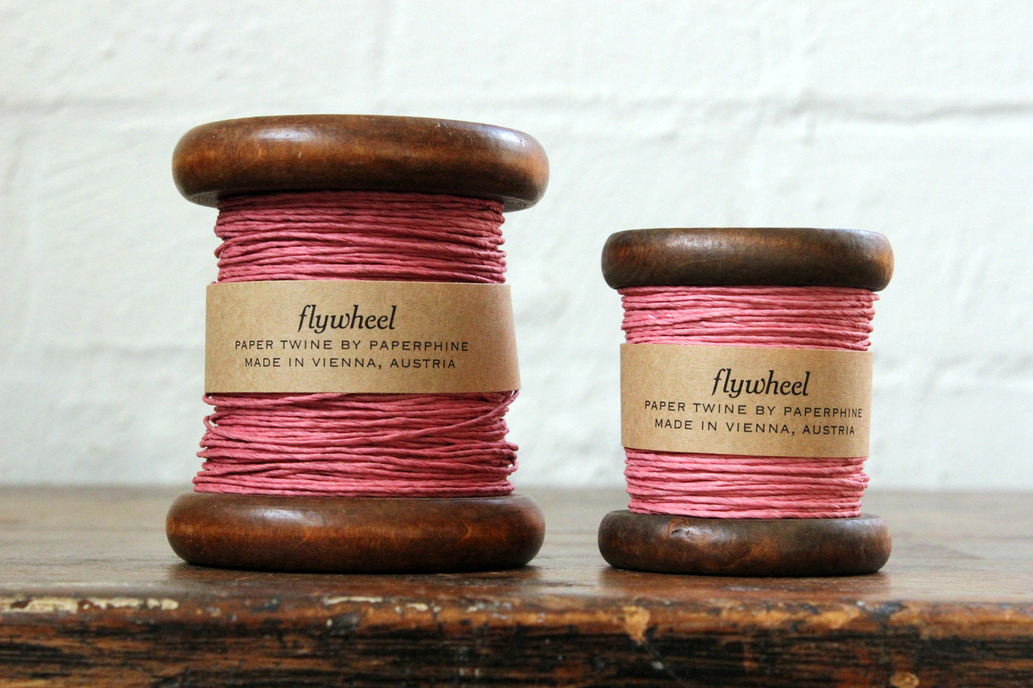 Paperphine Paper Twine on Wooden Spool - Dusty Pink