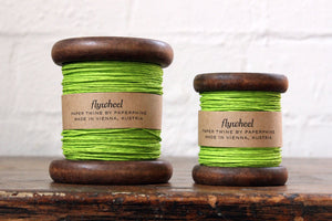 Paperphine Paper Twine on Wooden Spool - Fresh Green