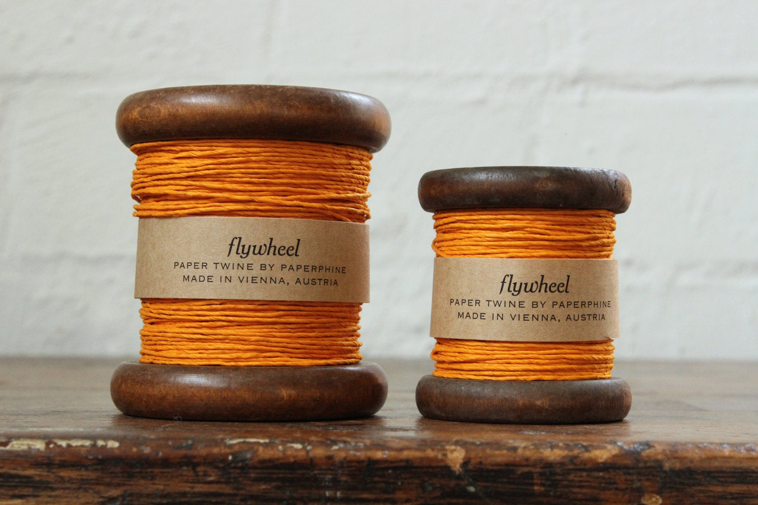 Paperphine Paper Twine on Wooden Spool - Orange