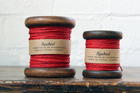 Paperphine Paper Twine on Wooden Spool - Red