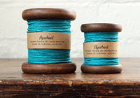 Paperphine Paper Twine on Wooden Spool - Turquoise