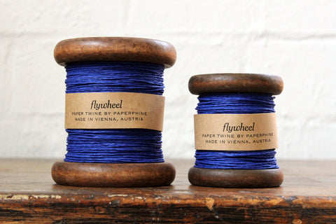 Paperphine Paper Twine on Wooden Spool - Ultramarine