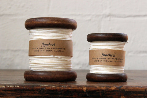 Paperphine Paper Twine on Wooden Spool - White