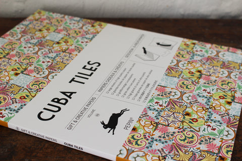 Pepin Press Gift & Creative Papers Book - Cuba Tiles