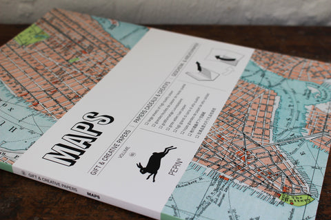 Pepin Press Gift & Creative Papers Book - Maps