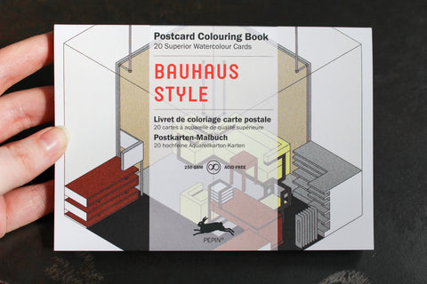 Pepin Press Postcard Colouring Book - Bauhaus Style