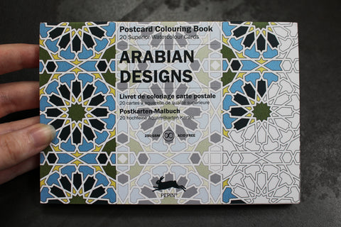 Pepin Press Postcard Colouring Book - Arabian Designs