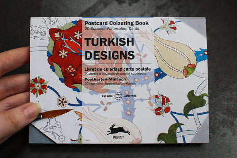 Pepin Press Postcard Colouring Book - Turkish Designs