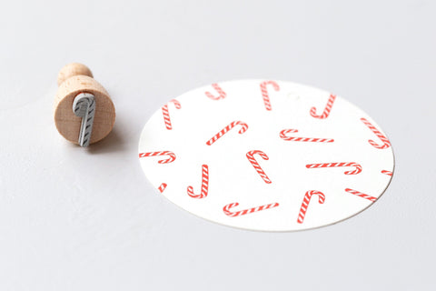 Perlenfischer Rubber Stamp - Small Candy Cane