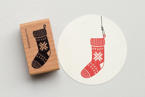 Perlenfischer Rubber Stamp - Christmas Stocking