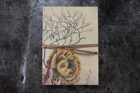 Slow Design Libri Muti Canvas Notebooks - Floral I