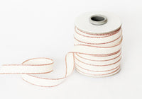 Studio Carta Drittofilo Cotton Ribbon - Natural/Rose Gold