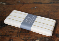 Studio Carta Metallic Line Ribbon Paddle - Natural/Gold