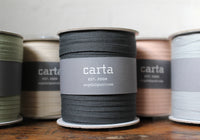 Studio Carta Tight Weave Cotton Ribbon Large Spool - Natural