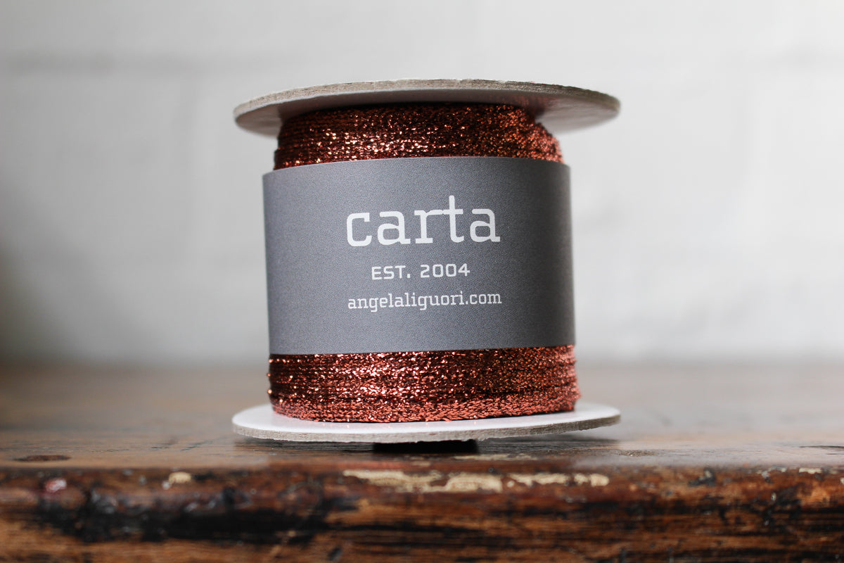 Studio Carta Metallic Braided Ribbon Large Spool - Copper