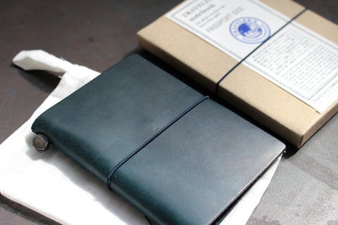 Traveler's Company Leather Notebook - Passport - Blue