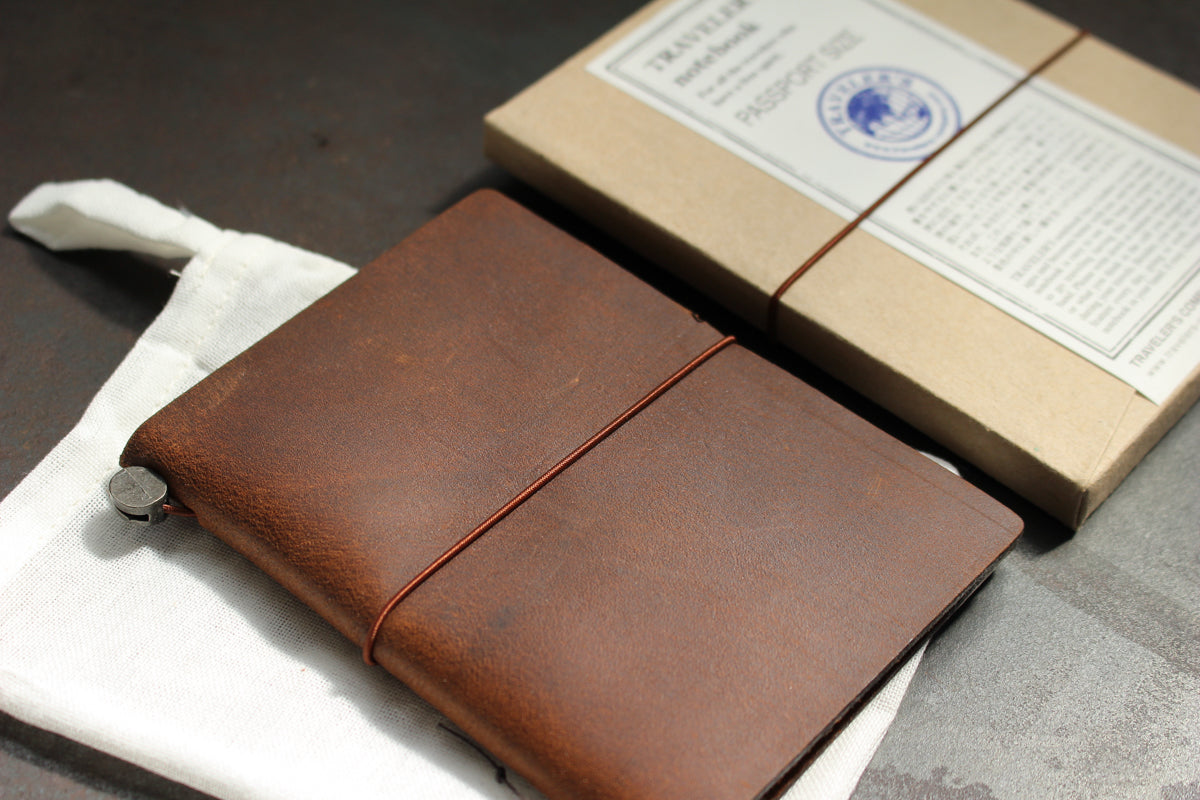 Traveler's Company Leather Notebook - Passport - Brown