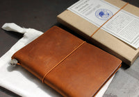 Traveler's Company Leather Notebook - Passport - Camel