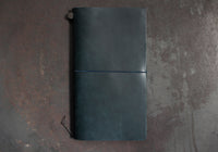 Traveler's Company Leather Notebook - Regular - Blue