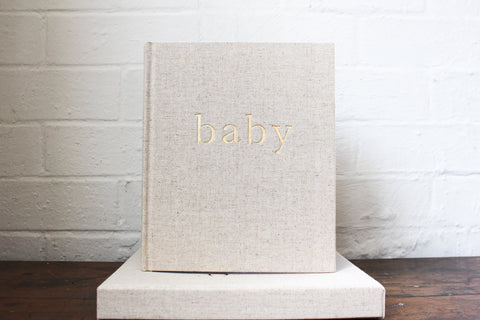 Write To Me Baby Journal - Natural Boxed