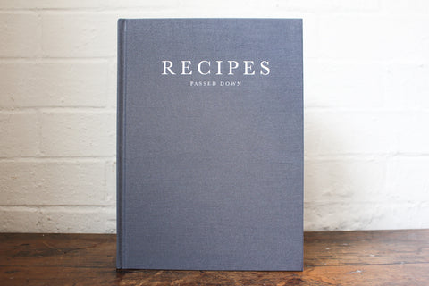 Write To Me Recipe Journal - Grey