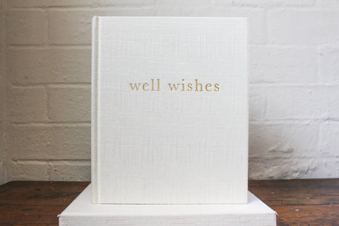 Write To Me Well Wishes Guest Book - White Boxed